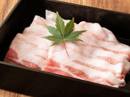 京都産もち豚バラ肉 100g